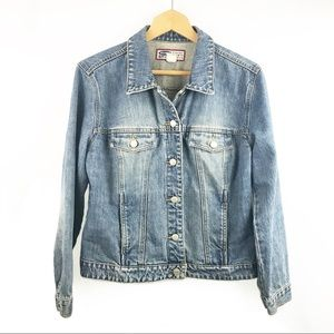 Old Navy Large Denim Jean Jacket 100% Cotton    F2